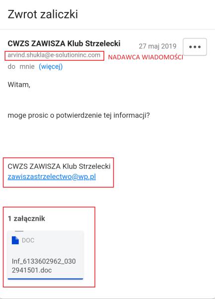 podejrzany mail