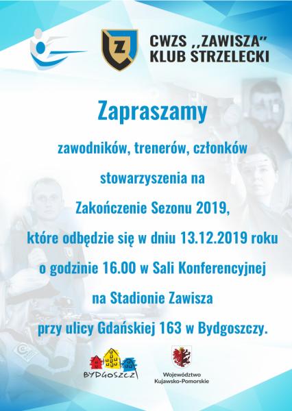 plakat zakończenie sezonu 2019